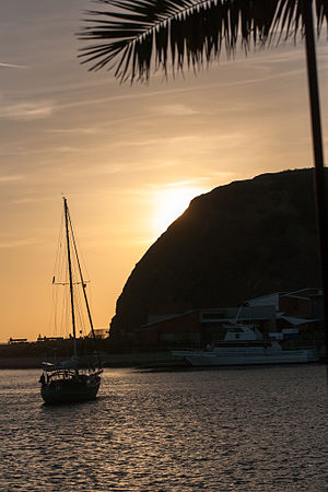 Dana Point, California - The harbor at Dana Point, CA at sunset