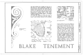 Daniel Blake Tenement, 6-8 (2-4) Courthouse Square, Charleston, Charleston County, SC HABS SC,10-CHAR,11- (sheet 1 of 9).png