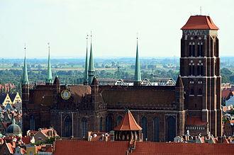 St. Mary's Church, Gdańsk - Image: Danzig Marienkirche Profil (2011)