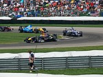 David Coulthard, Nico Rosberg and Giancarlo Fisichella 2006 Indianapolis.jpg
