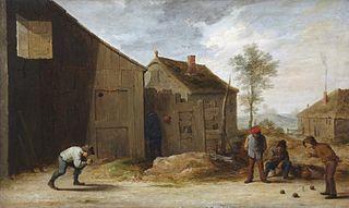 Peasants Playing Bowls