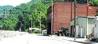 Davy, West Virginia - Main Street in Davy