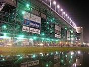 Vista nocturna del circuito de Daytona, donde el 935 ganó 6 veces consecutivas las 24h de Daytona