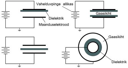 laetud osakesi kiirgav elektrood