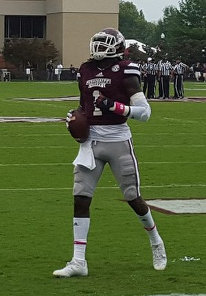 De'Runnya Wilson - Wilson in pre-game warmups before the 2015 game against Troy.