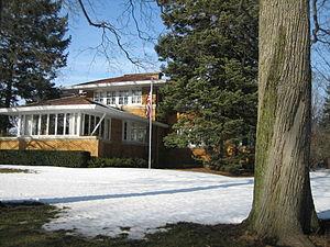 John S. Van Bergen - The c. 1913 Prairie style Andrew O. Anderson House in DeKalb, Illinois
