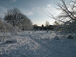 Mill Road Cemetery, Cambridge - Mill Road Cemetery in winter.