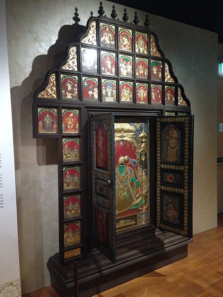 File:Decorated wooden panel, Indian Heritage Centre ...
