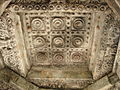 Decorative ceiling in Brahmeshvara Temple at Kikkeri.JPG