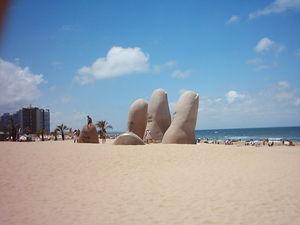 Monumento de los dedos (Punta del Este, Uruguay)