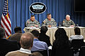 Defense.gov News Photo 110119-D-9880W-079 - Army Vice Chief of Staff Gen. Peter Chiarelli 2nd from right speaks with reporters concerning the statistics for Army suicides during the year 2010.jpg