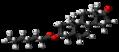 Dehydroepiandrosterone enanthate molecule ball.png