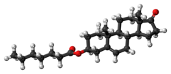 Dehydroepiandrosterone enanthate molecule ball.png