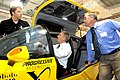 Deputy Secretary Poneman tries out a finalist for the Progressive Automotive X prize (4948660968).jpg