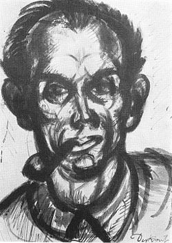 Derkovits, Gyula - Self-portrai with Pipe (1926).jpg