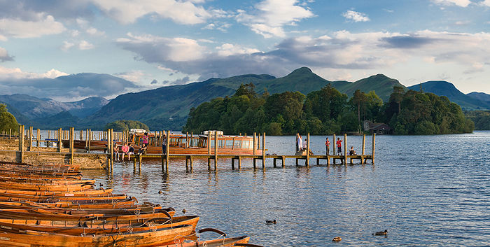 The pier near Keswick on Derwent Water in the Lake District.