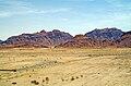 Desert landscape in Jordan off Desert Highway near Wadi Rum.jpg