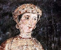 A fresco depicting Desislava, a 13th century patron of the church