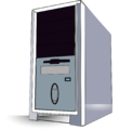 Desktop PC Tower Vector Image Clipart.png