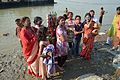 Devotees - Durga Idol Immersion Ceremony - Baja Kadamtala Ghat - Kolkata 2012-10-24 1526.JPG