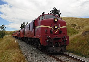 New Zealand DG and DH class locomotive - DG 770 on the Weka Pass Railway.