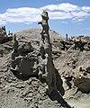 Differentially cemented & eroded sandstone (member C, Uinta Formation, Eocene; Fantasy Canyon, Utah, USA) 45 (24216320644).jpg