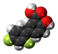 Diflunisal molecule spacefill.png