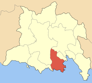 Locator map of Galaxidi municipality (Δήμος Γα...