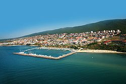 Sveti Vlas with the Dinevi Marina