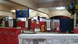Sungai Buloh railway station - The old railway station being dismantled.