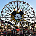 Disneyland Mickey's Fun Wheel and Paradise Pier (13918568243) (cropped).jpg