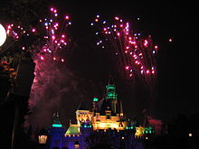fuegos artificiales de Disneyland
