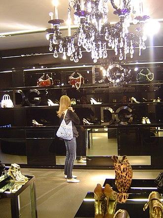 Dolce & Gabbana - Image: Dolce & Gabbana Shop (Via della Spiga Milan) 02
