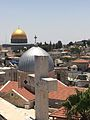 Dome of the Rock with Church in Holy land.jpg