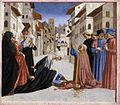 Domenico Veneziano - St Zenobius Performs a Miracle (predella 4) - WGA06435.jpg