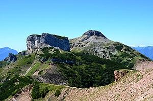 Monte Bondone - Dos D'Abramo and Monte Cornetto seen from Cima Verde