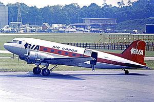 British Island Airways - Image: Douglas C 47B G AMSV BIA Cargo LGW 05.73 edited 3