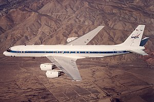 Douglas DC-8 72 Airborne Laboratory in flight.jpg