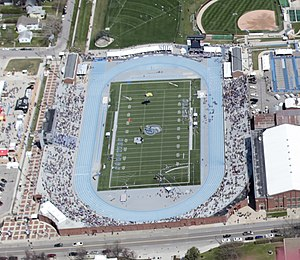 2010 USA Outdoor Track and Field Championships - Image: Drake Stadium aerial