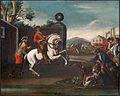 Dresura konja- Boj konjenikov s pešci (po Georgu Philippu Rugendasu).jpg