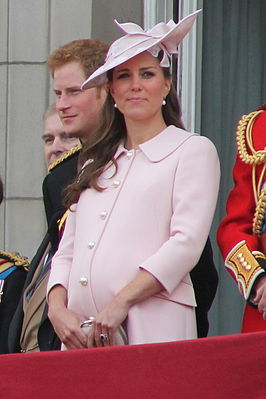 Catherine tijdens Trooping the Colour (juni 2013)