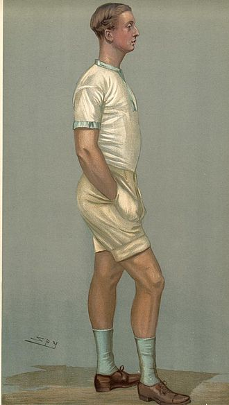 """William Dudley Ward - William Dudley Ward as depicted by """"Spy"""" (Leslie Ward) in Vanity Fair, 29 March 1900."""