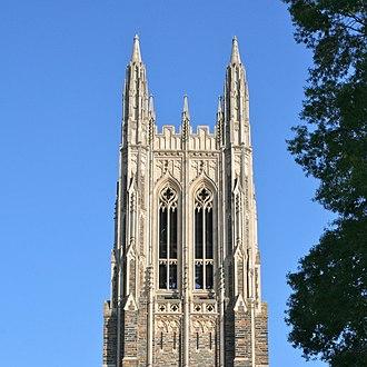 Massive open online course - Image: Duke Chapel spire