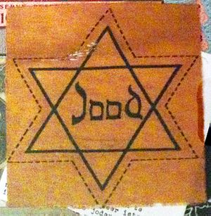 History of the Jews in the Netherlands - Yellow Star of David worn by Dutch Jews