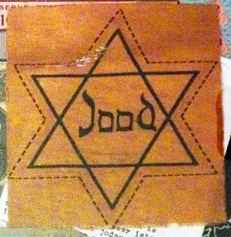 History of the Jews in the Netherlands - Yellow Star of David that Dutch Jews were forced to wear