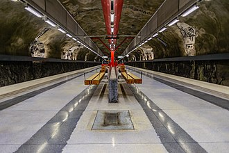 Duvbo metro station - Image: Duvbo Metro station September 2014 05