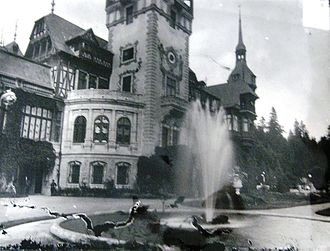 Carol I of Romania - Fountain in the palace of the Romanian King, Carol I of Romania, in Sinaia. 1907