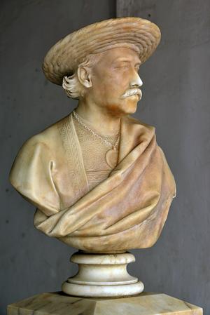 Dwarkanath Tagore - Bust of Dwarkanath Tagore at the National Library, Kolkata