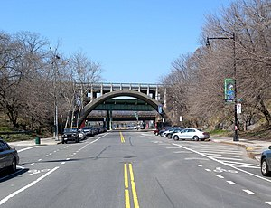 North end approaching the Henry Hudson Parkway