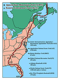 long-distance hiking trail in Eastern United States and Canada